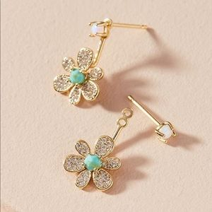 NEW Anthropologie Oleander Front-Back Earrings